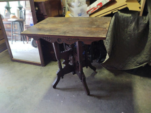 "Victorian Style Table, 31"" w x 21"" d x 31"" h"