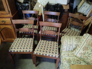 (5) Matching Padded Dining Room Chairs