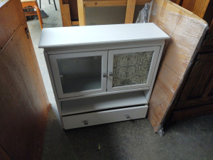 "White Medicine Cabinet With Drawer:  29"" x 7"" d x 33"" h"