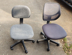 Gray Office Chair & Net Back Office Chair