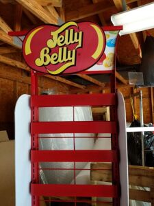 "Jelly Belly Stand; 17"" w 12"" d x 71"" h"