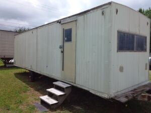 Approx. 27' Office Trailer With Air & Bathroom, BILL OF SALE ONLY