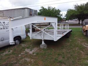 Approx. 24' Dove Tail Gooseneck Trailer; BILL OF SALE ONLY