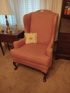 Queen Anne Style Wingback Chair By King Hickory