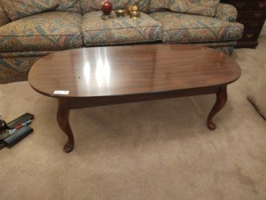 "Queen Anne Style Coffee Table, 50""x24"""