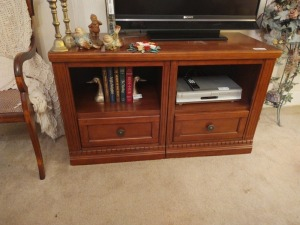 "2-Drawer Entertainment Center (contents not included), 48"" x21"""