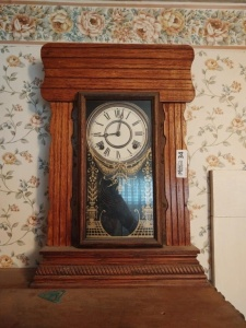 "Mantle Clock, 22"" tall"
