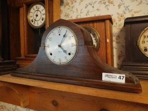 "Vintage Gilbert 1807 Mantle Clock, 10"" tall"
