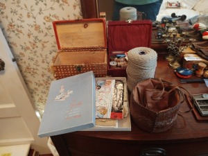 Boxes With Thimbles & More , Roll Of Twine & More