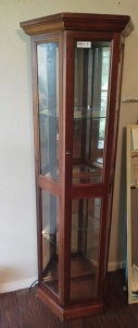 Lighted Curio Cabinet With Mirror Back