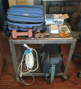 Rolling Cart & Contents Including CPAP Machines