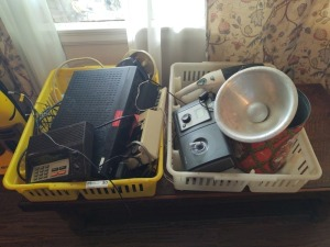 Miscellaneous Electronic Lot Including Adding Machine, Frequency Scanner and Vacuum Cleaner