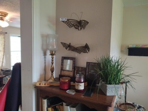 Butterfly Wall Decor' & Contents On Top of Bookcase