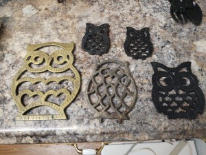 Collection of Owl Trivets