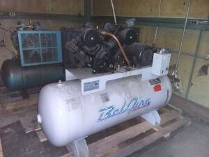 BelAire 120-Gallon Compressor, Model 6312H, 10HP 208-230 Volt; 3-Phase; Max Pressure:  175 psi