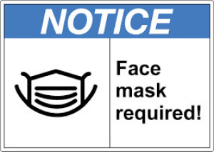 Face masks MUST be worn inside the facility during preview & pick up AT ALL TIMES.