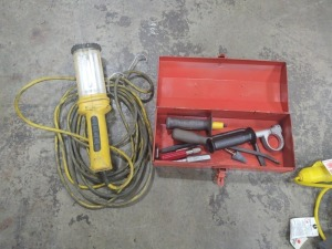 Work Light & Small Toolbox With Contents