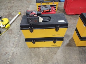 Milwaukee Driver Drill & (2) Westward Toolboxes