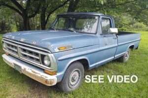 1971 Ford F-100; VIN# F10GCL82506; 24,205 Miles Showing; BILL OF SALE ONLY