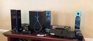 Stereo speakers & Sony Blu Ray Disc DVD receiver
