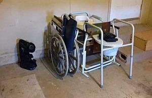 Assortment of medical devices; wheelchair, potty chair, etc.