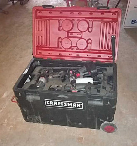 Craftsman rolling toolbox and tools inside box