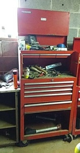 Rolling tool box with  contents