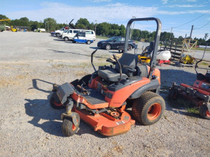 KUBOTA MODEL RC60P-3312 DIESEL ZERO TURN MOWER (NEEDS WORK); 2,548 HOURS