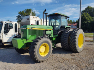 JOHN DEERE 4955 TRACTOR; 4WD;  RUNS & DRIVES