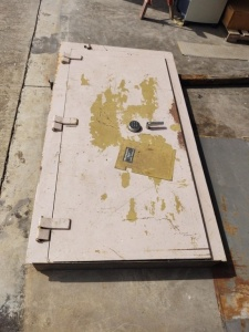 Heavy Duty Safe/Panic Room Door; **Combination Unknown**