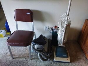Metal Padded Chair, Upright Vacuum Cleaner, Canister Vacuum Cleaner