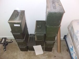 Vintage Military Ammo Boxes