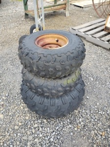 (3) 4-WHEELER TIRES & RIMS