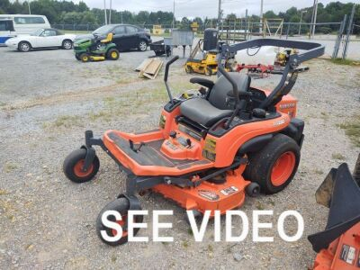 "KUBOTA ZG-222 48"" CUT ZERO TURN MOWER; 1,295 HOURS"