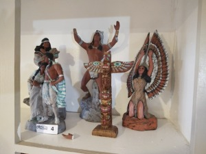 Assortment Of Native American Figures (1 with broken hand, see photos)