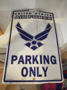 United States Air Force Parking Sign
