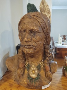 Decorative Large Indian Bust - Height 20""