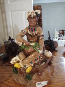 "Ceramic Indian Figure - 17"" tall"
