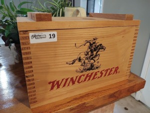 Winchester Wooden Ammo Box - contains CDs