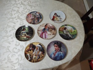 7 Decorative Indian themed plates