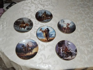 5 Decorative Indian themed plates