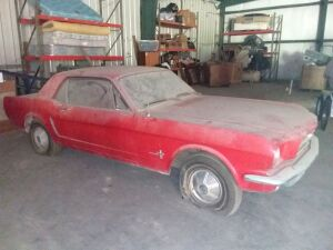 1965 Ford Mustang 2-Door Hardtop In Rangoon Red With Red Trim, DSO-Memphis; VIN 5F07T262661 with factory air