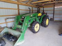John Deere 5055E Tractor With H240 Loader; purchased in 2017 and has approx. 46 hrs (selling from Fowler Auction's lot in Toney, AL)