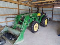 John Deere 5055E Tractor With H240 Loader; purchased in 2017 and has approx. 46 hrs (selling from Fowler Auction's lot in Toney, AL) - 3