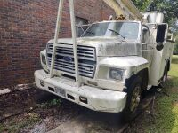 1985 Ford Bucket Truck; VIN #1FDWK74N2FVA73008; 243,658 miles; bucket has capacity of 340 lbs. and shows 7654 hrs. (selling from Fowler Auction's lot in Toney, AL); Bill Of Sale Only; Buyer will pay taxes at courthouse - 3