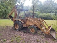 Case/Tenneco 35C Backhoe, showing 1107 hrs..  Runs off starting fluid.  It will need a switch and battery.