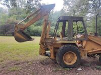 Case/Tenneco 35C Backhoe, showing 1107 hrs..  Runs off starting fluid.  It will need a switch and battery. - 2