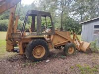 Case/Tenneco 35C Backhoe, showing 1107 hrs..  Runs off starting fluid.  It will need a switch and battery. - 3