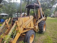 Case/Tenneco 35C Backhoe, showing 1107 hrs..  Runs off starting fluid.  It will need a switch and battery. - 7