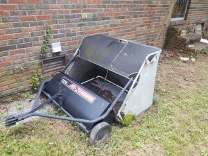 "Ohio Steel Lawn Sweeper, XL capacity hopper, 42"" sweep path"
